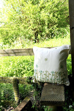 Load image into Gallery viewer, Bee & Wildflower Organic Cotton Cushion Cover
