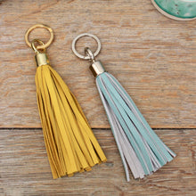 Load image into Gallery viewer, Leather Tassel Keyring