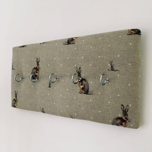 5-hook coat hanger in Fryetts hare fabric