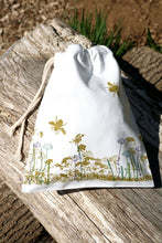 Load image into Gallery viewer, Wildflower Organic Cotton Drawstring Bag