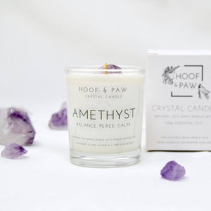 Amethyst, Relaxation Travel Crystal Candle