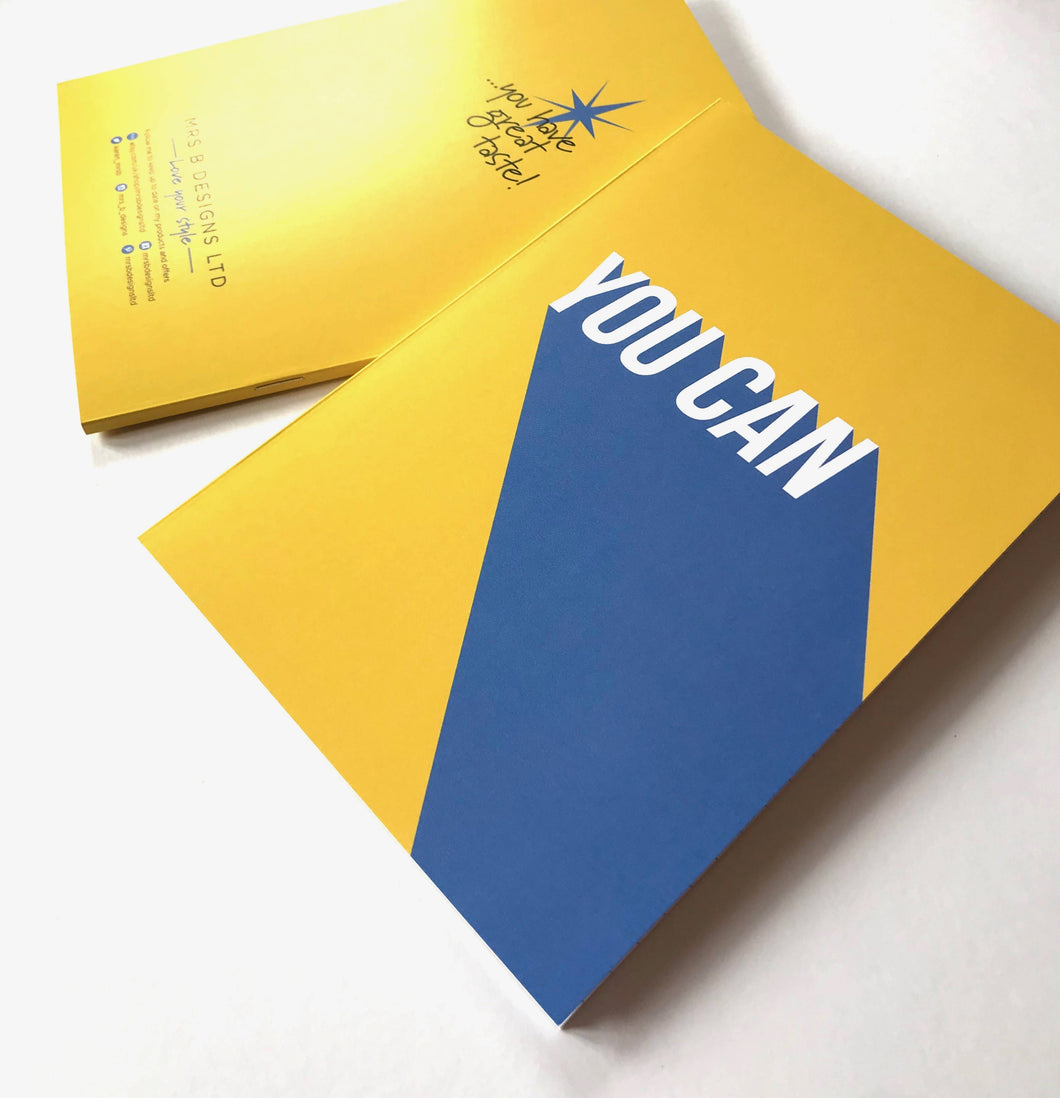 YOU CAN Slogan Notebook