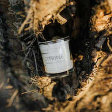 Load image into Gallery viewer, Citrine, Energising & Uplifting Travel Crystal Candle
