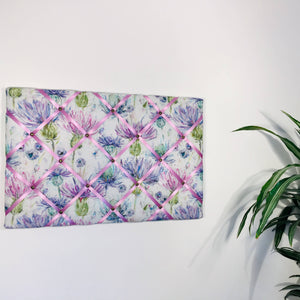 Voyage Maison noticeboard - Lilac Thistles