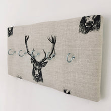 Load image into Gallery viewer, 5-hook coat hanger in Fryetts stag head fabric