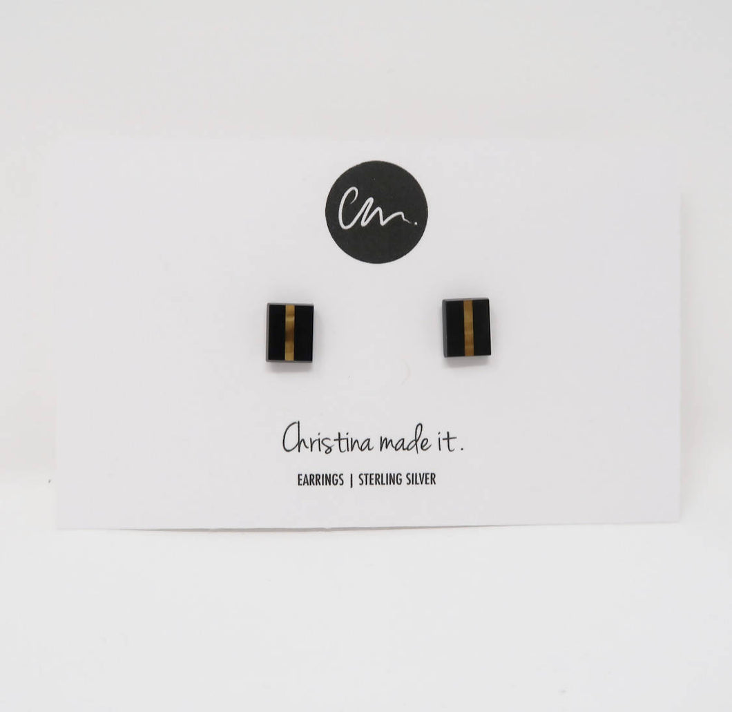 Onyx Stud Earrings