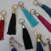 Load image into Gallery viewer, Suede Tassel Keyring