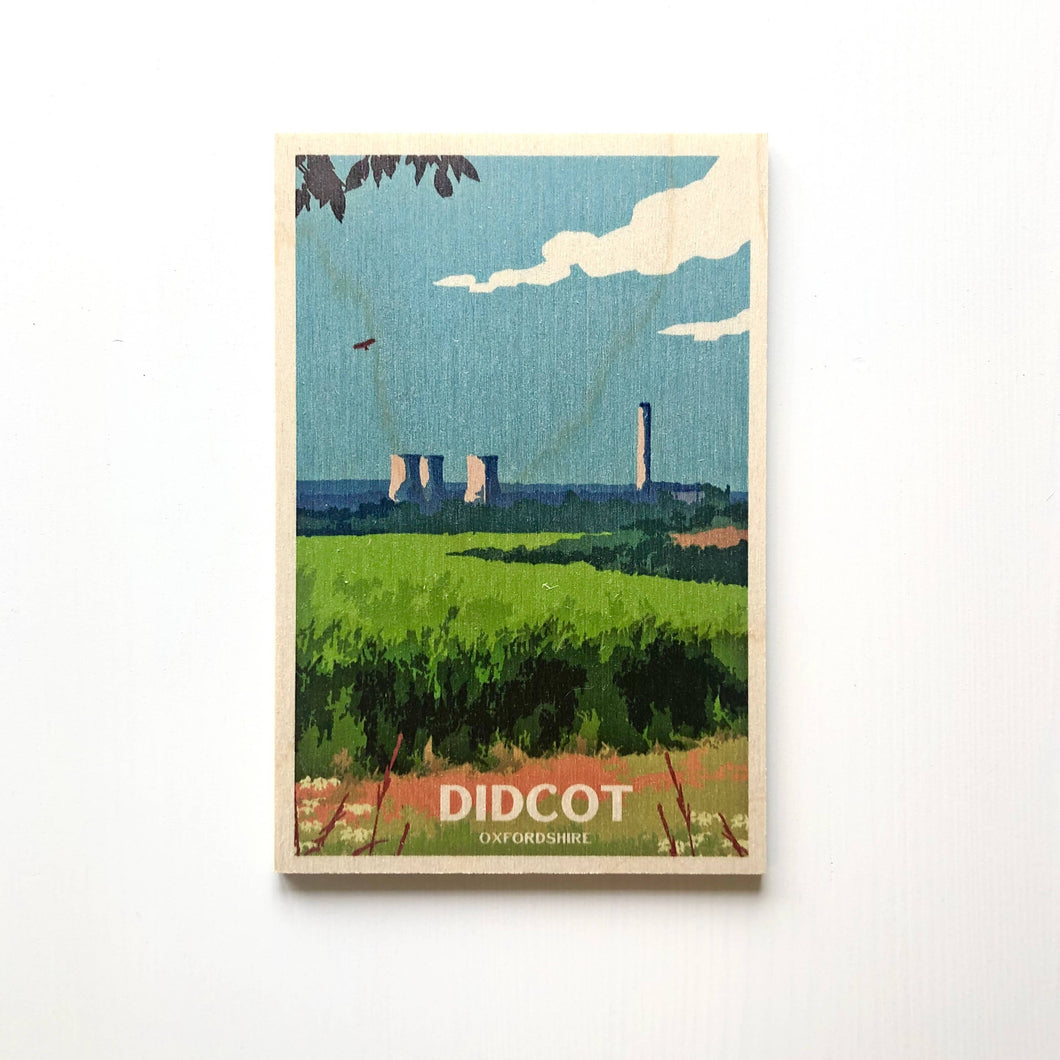 Didcot wooden postcard