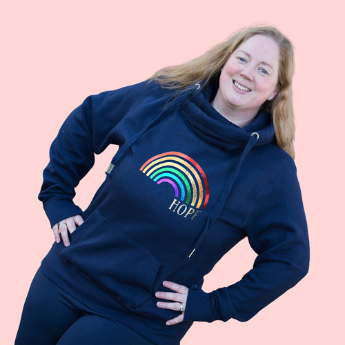 Rainbow of Hope Adult Hoodie