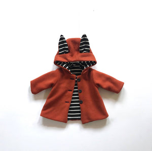Childs Fox Coat - Ages 0-6 Years
