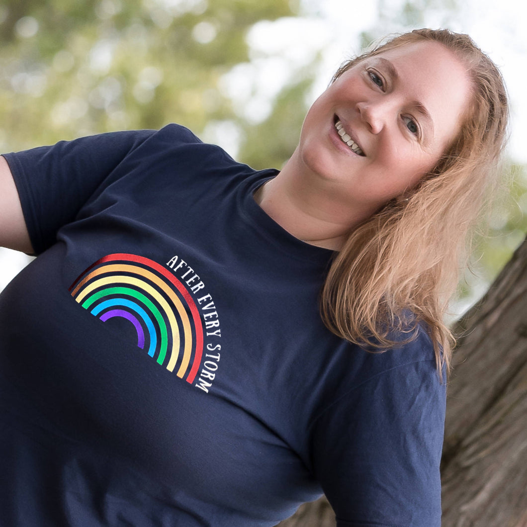 After Every Storm Rainbow T-shirt for adults
