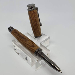 Hand Turned Laburnum Wood Rollerball Pen
