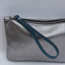 Load image into Gallery viewer, Moreton Pouch - Gunmetal/Petrol Blue