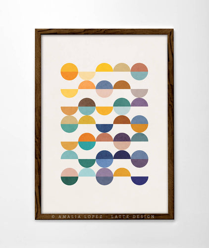 Equal parts 2. Geometric print by Latte Design