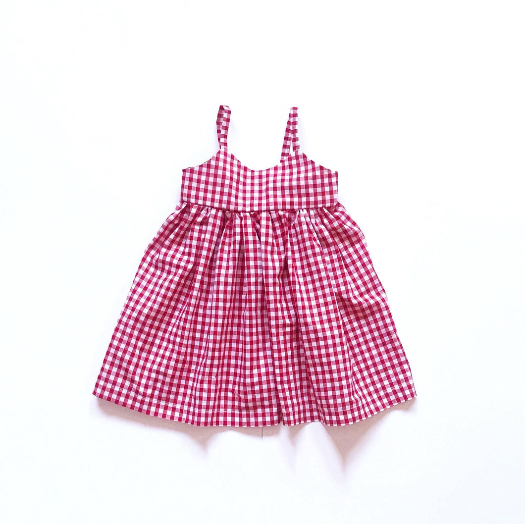 Childrens Red Gingham Sundress