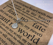 Load image into Gallery viewer, Silver Heart Pendant, Recycled Sterling Silver Pebble Necklace, Hand Stamped Jewellery