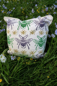 Bee Organic Cotton Cushion Cover