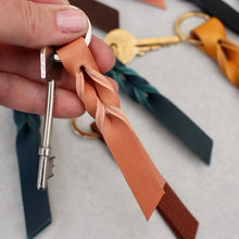 Load image into Gallery viewer, Leather Twist Keyring