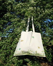 Load image into Gallery viewer, Wildflower & Foilage Organic Cotton Tote Bag