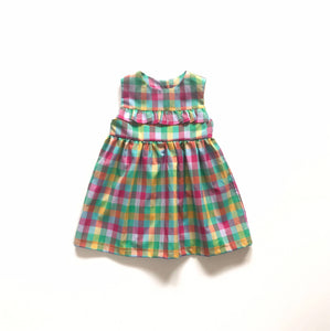 Childrens Check Summer Dress Ages 1-8 Years