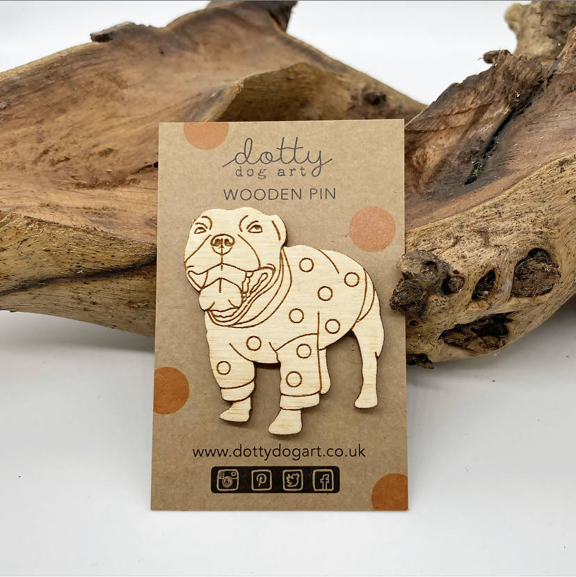 Dog Brooch - Staffy