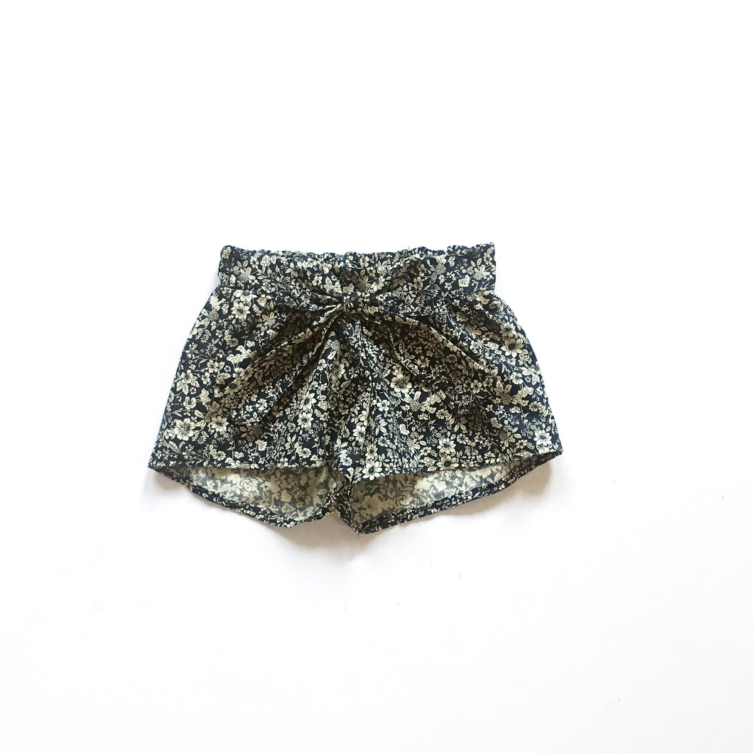 Childrens Navy Floral Shorts