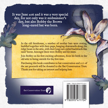 Load image into Gallery viewer, Bobby the Brown Long-eared Bat Children's book
