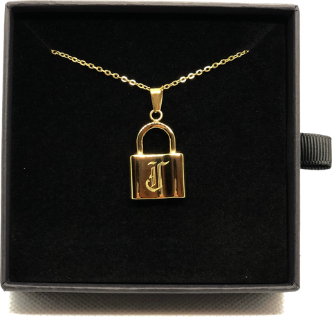 Gold Plated J Necklace