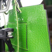 Load image into Gallery viewer, Brompton leather bag Neon green