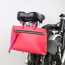 Load image into Gallery viewer, Brompton leather bag in pink color