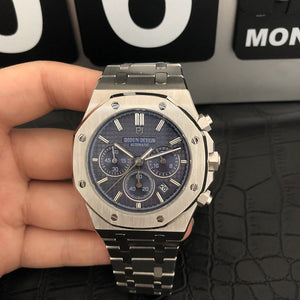 watch men luxury steel quartz