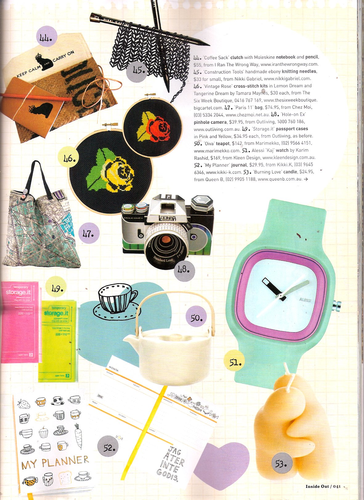 Queen B candles in Dec issue of Inside Out