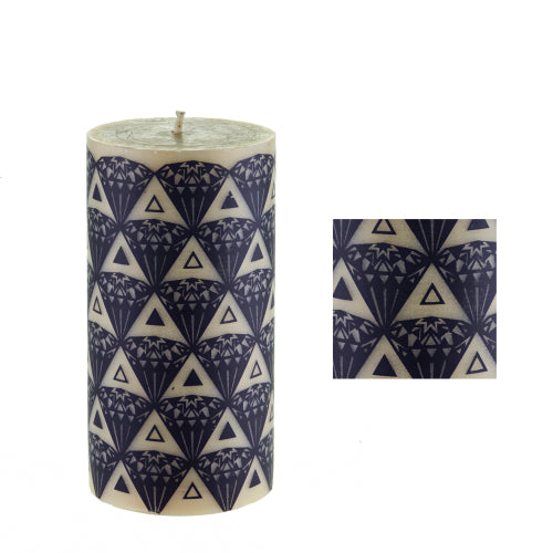 Diamonds surface design by ISCD student for Queen B beeswax candles