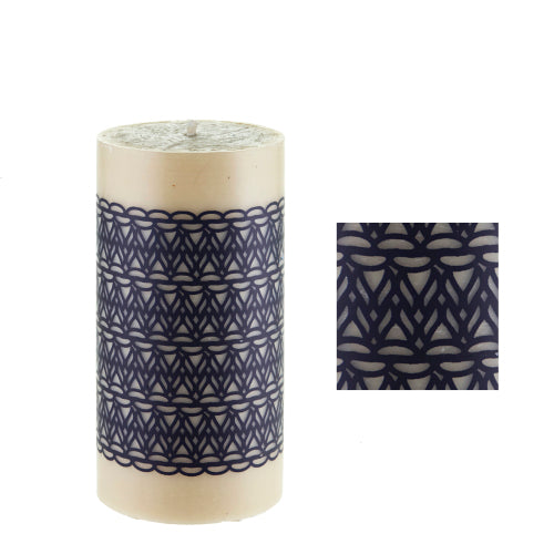 Natural Threads surface design by ISCD studen for Queen B candles
