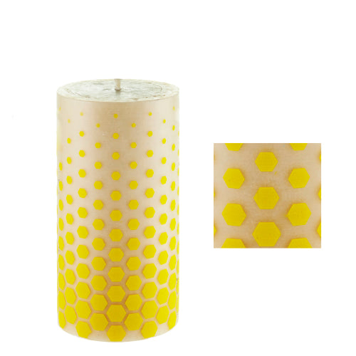 Pollen surface design by ISCD student for Queen B candles