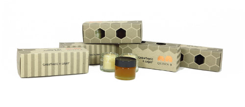 rosh hashana, corporate sustainable eco gift idea, queen b pure beeswax candles