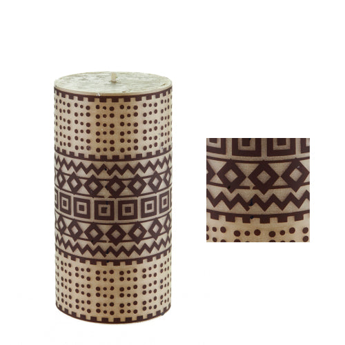 Tribal surface design by ISCD student for Queen B candles