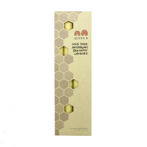 beeswax dinner taper candles