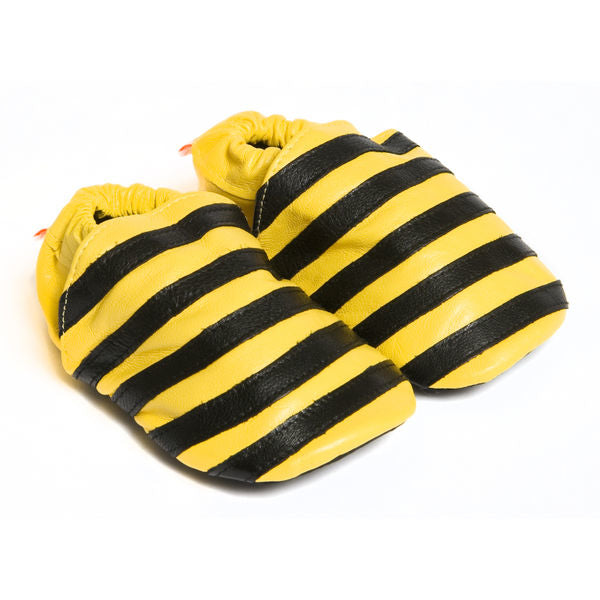 Baby bee leather booties