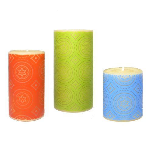 ISCD surface design collaboration with Queen B - design focused pure beeswax candles
