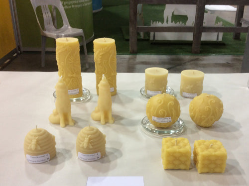 National Honey Show beeswax candle entries at Sydney Royal Show