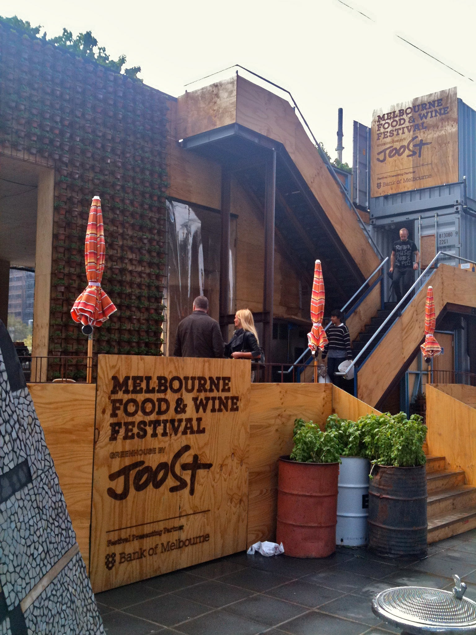 Melbourne Food and Wine Festival Greenhouse by Joost