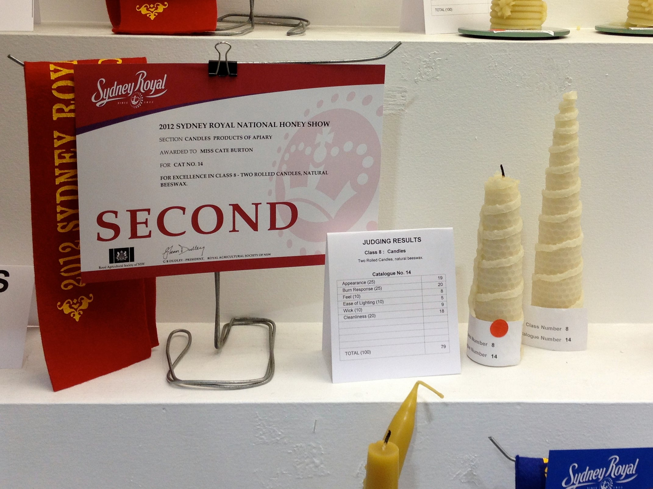 Second place for Rolled Candles