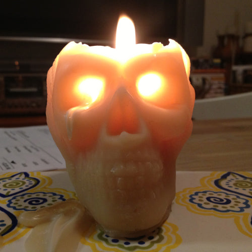 beeswax tears of gold from Queen B Skull Candle