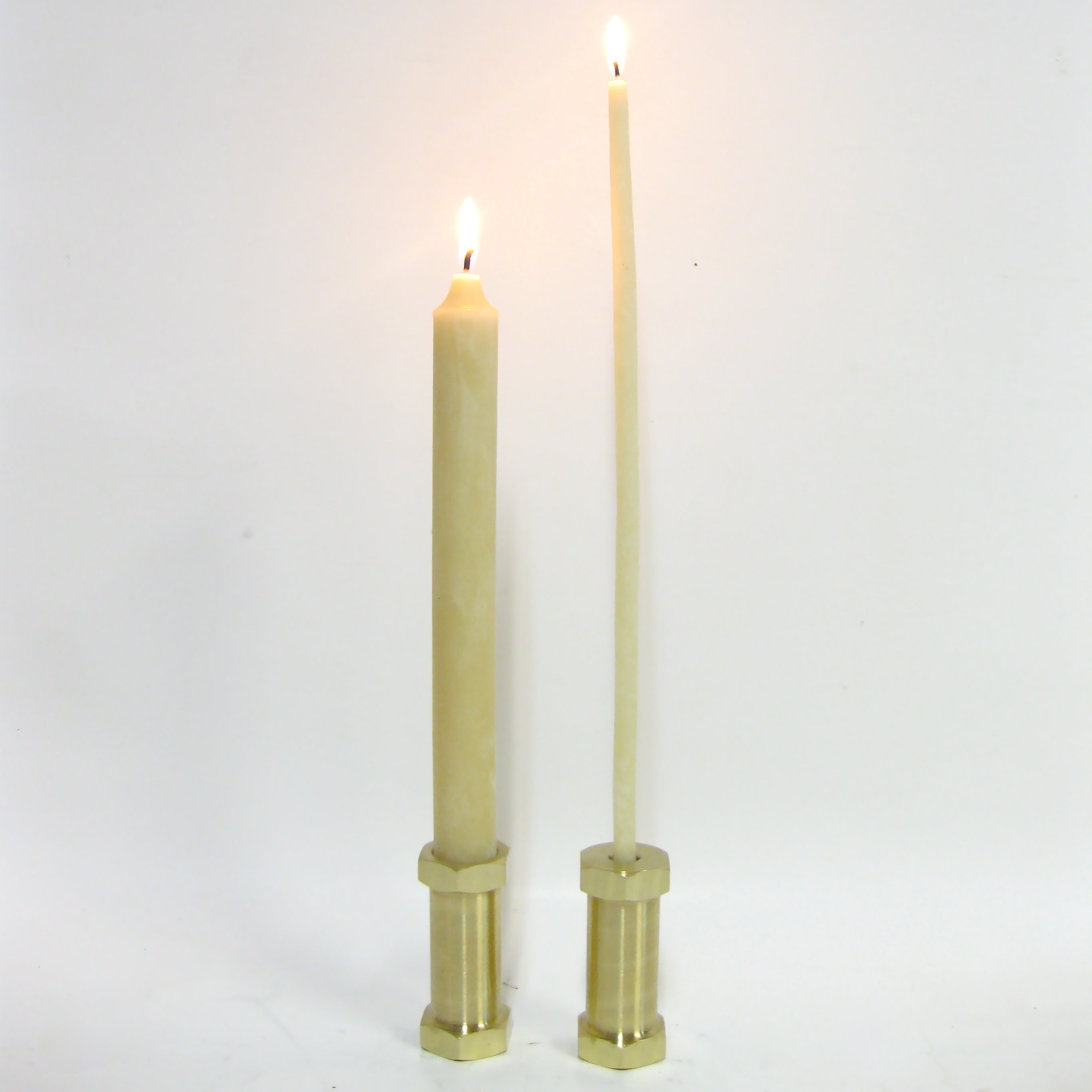 Brass Earthing Stubb Candle Holder