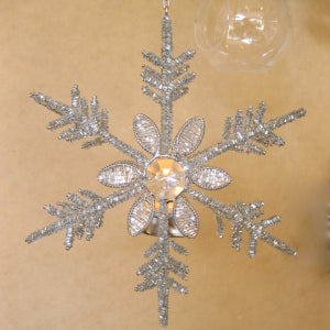 Ice crystal beaded tealight holder