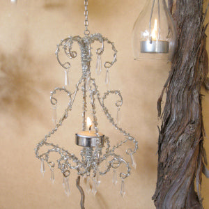 Chandelier beaded tealight holder
