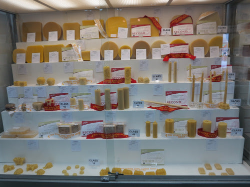 Sydney Royal Showcase of National Honey Show beeswax candle entries