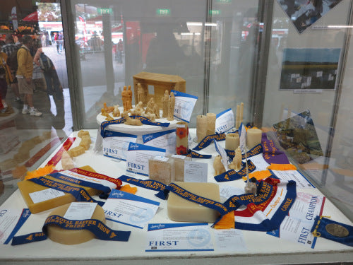 Championship beeswax and beeswax candle winners at Sydney Royal Show