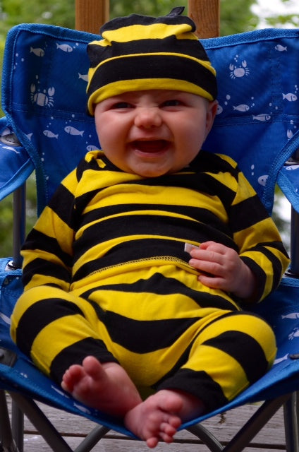 Baby bee romper suit